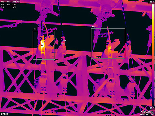 FLIR-T1K-IR-Comparing-Substation-Hinged-Cutouts